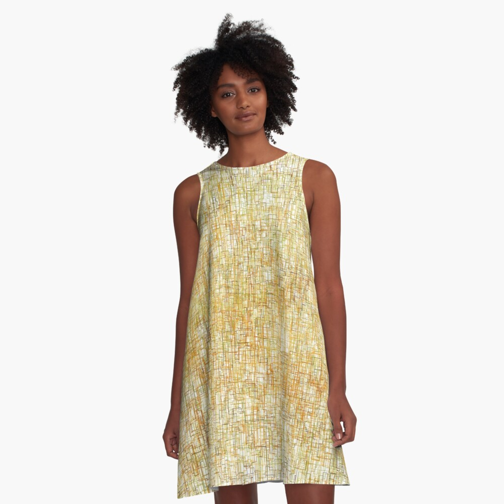 Squiggly Lines A-Line Dress