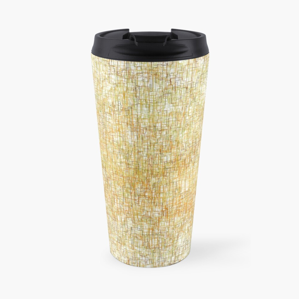 Squiggly Lines Travel Mug