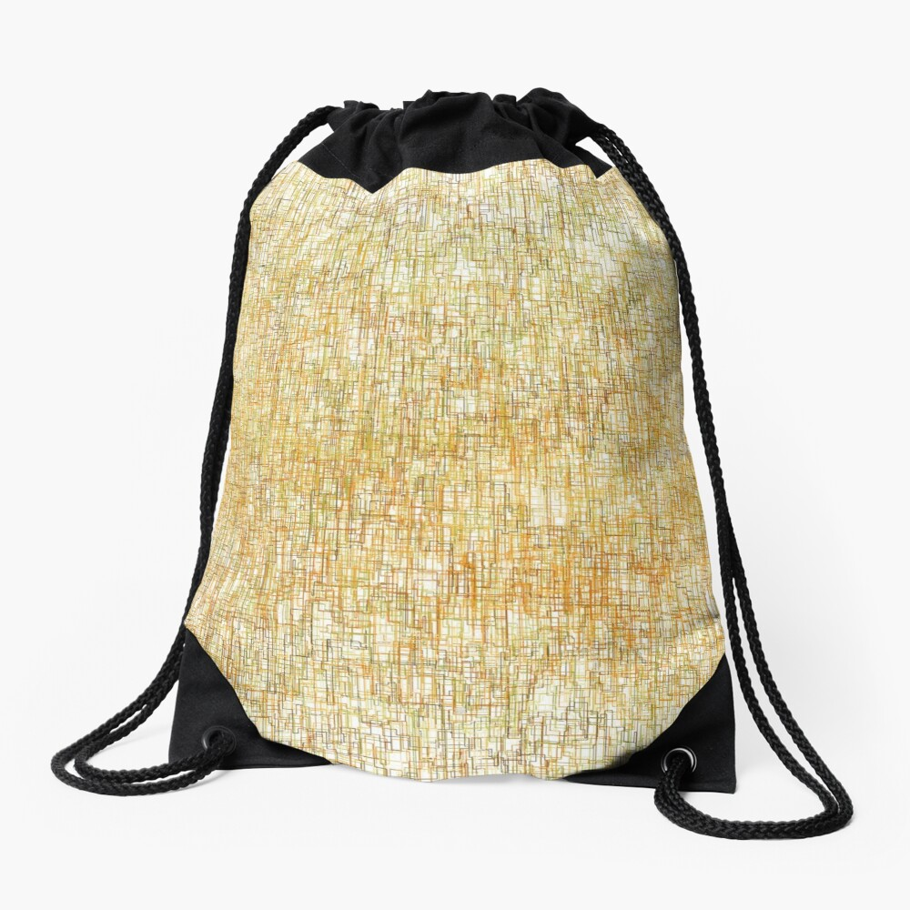 Squiggly Lines Drawstring Bag