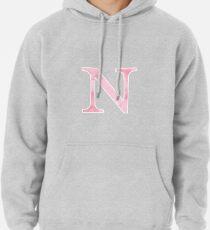 Pink Watercolor Ν Pullover Hoodie