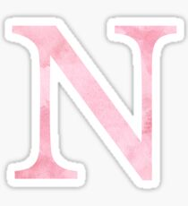 Pink Watercolor Ν Sticker