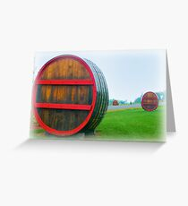 Field of Kegs Greeting Card