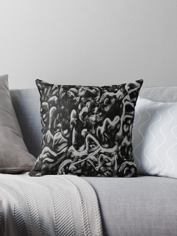 Beautiful Cushions/ Pattern Black Darkness by ozcushionstoo