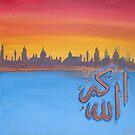 Sunset 'Allah Akbar' by Shaida  Parveen