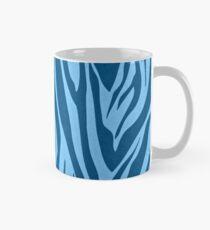 Blaue Zebrastreifen Tasse