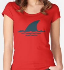 Shark Fin Women's Fitted Scoop T-Shirt