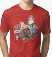 The Regular Show Characters Half Realistic Tri-blend T-Shirt