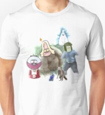 The Regular Show Characters Half Realistic Unisex T-Shirt