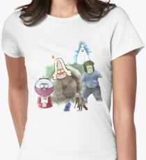 The Regular Show Characters Half Realistic Women's Fitted T-Shirt