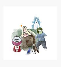 The Regular Show Characters Half Realistic Photographic Print