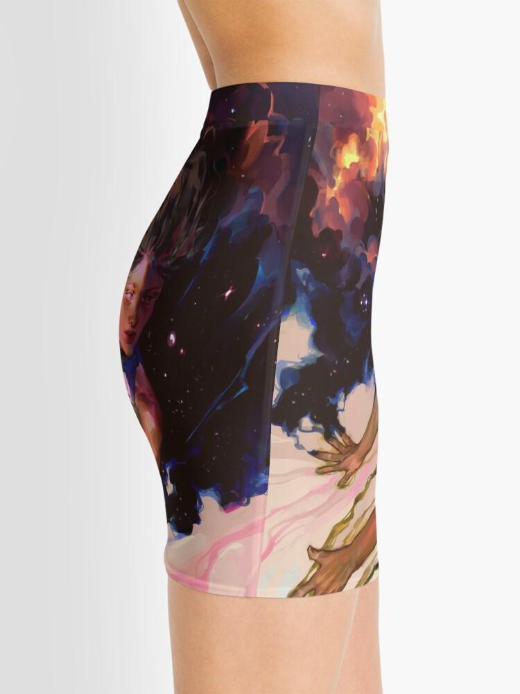Alternate view of girl and stars Mini Skirt