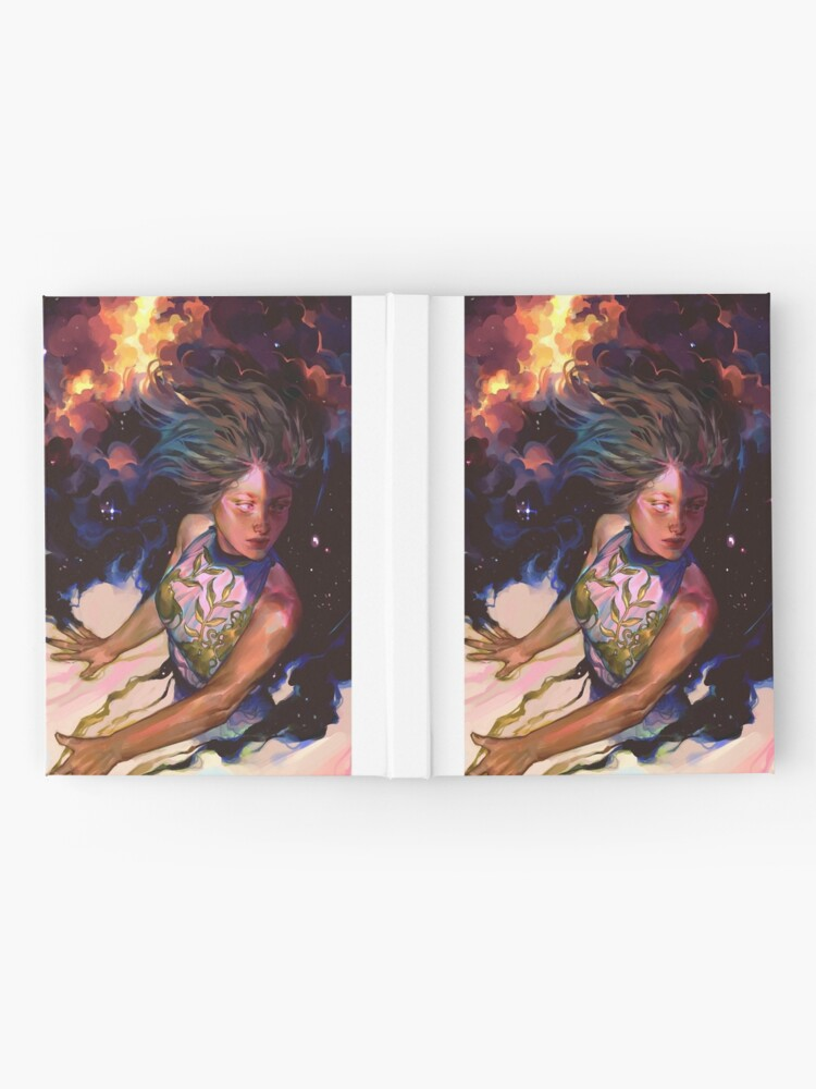 Alternate view of girl and stars Hardcover Journal
