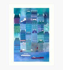 Paris Blues Malerei Kunstdruck