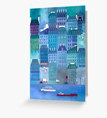 Paris Blues Painting Greeting Card