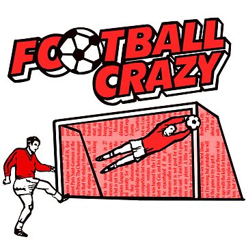 Football crazy RED classic crisp packet English snacks 1980s 80s by pickledjo