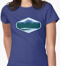 River Mountain Badge Women's Fitted T-Shirt