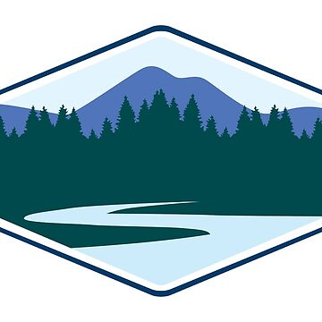 River Mountain Badge by simplyhomelife