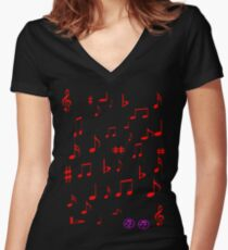 My music Women's Fitted V-Neck T-Shirt