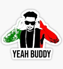 DJ Pauly D Yeah Buddy Italian Flag Sticker