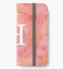 Peach Watercolor Η iPhone Wallet/Case/Skin