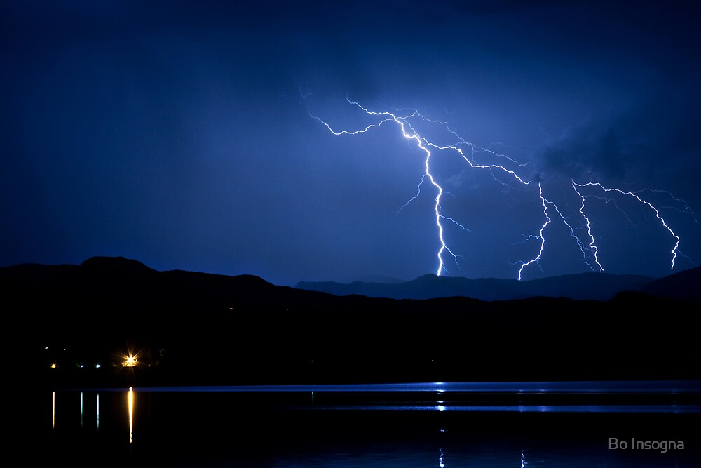 Boulder County Lake Lightning 08.05.09 by Bo Insogna