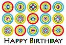 Primary Circles Birthday - card by Andi Bird