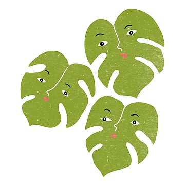 Monstera Split Leaf Philodendron | Funny Plant with Faces by ImaginaryAnimal
