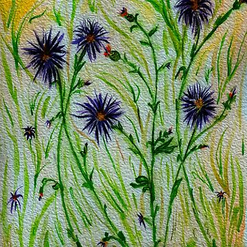 Purple Weeds-Flowers on the Dirt Road by AnneG