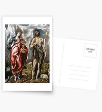 John the Baptist and John the Evangelist by El Greco Postcards