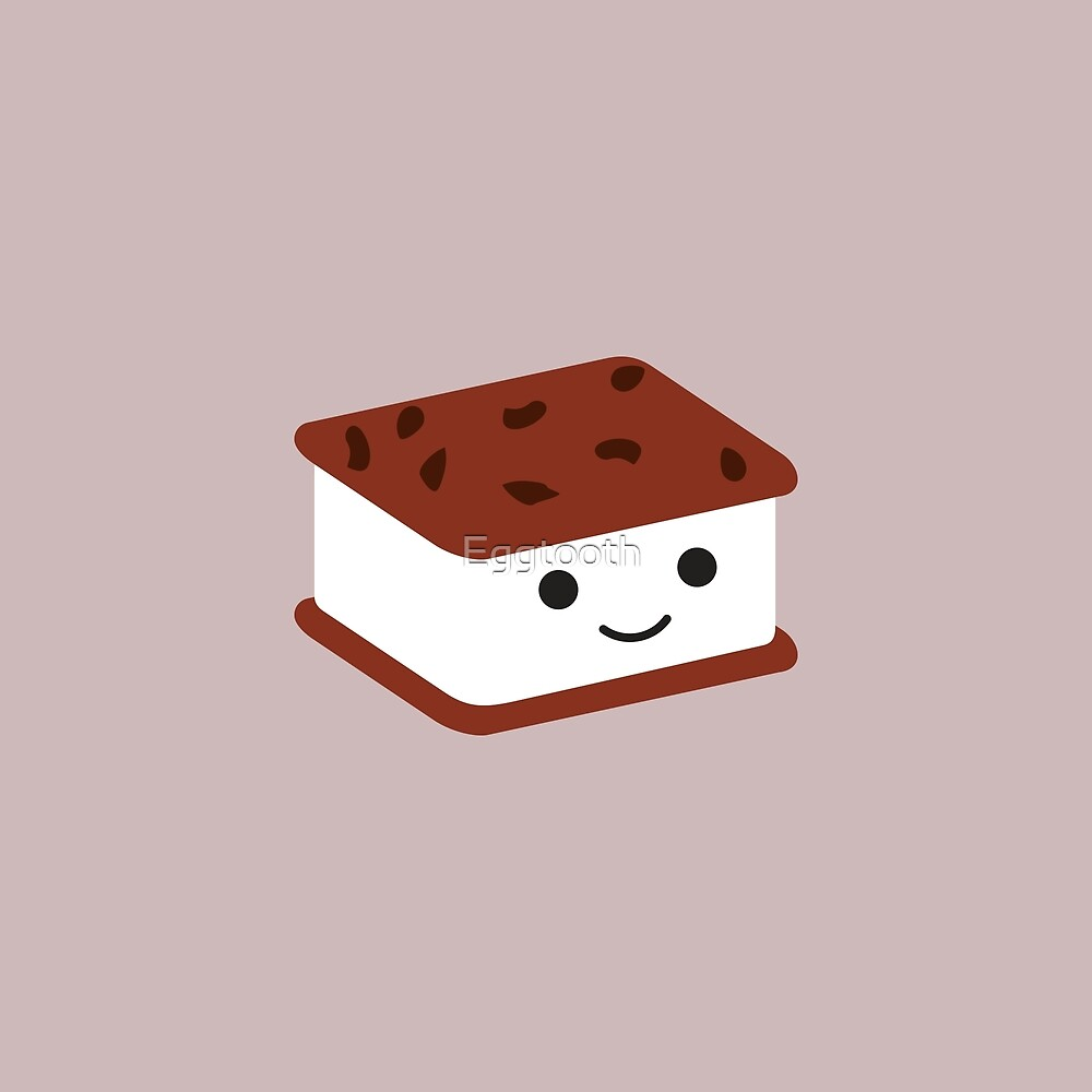 Cute Kawaii Ice Cream Sandwich by Eggtooth