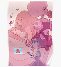 A Single Pale Rose Poster