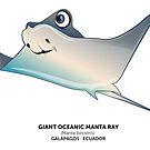 Giant Oceanic Manta Ray by makikelly