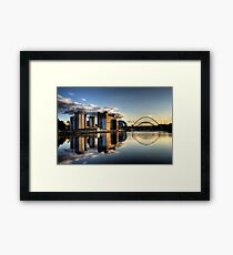 Reflective Tyne Framed Print