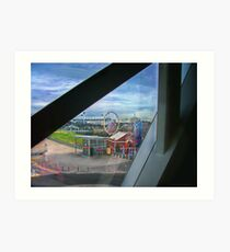 View from National Gallery, Federation Square, Melbourne, Australia Art Print