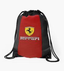 Ferrari Logo Red Black Drawstring Bag