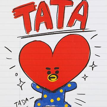 BTS - BT21 - TATA doodle note by Red-One48
