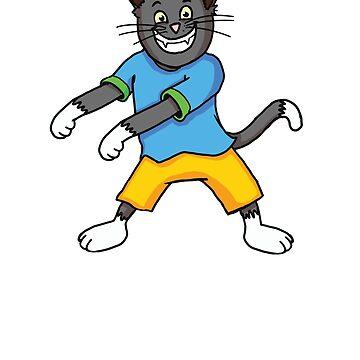 Floss Dance Kitty Cat Tshirt by robertaccomando