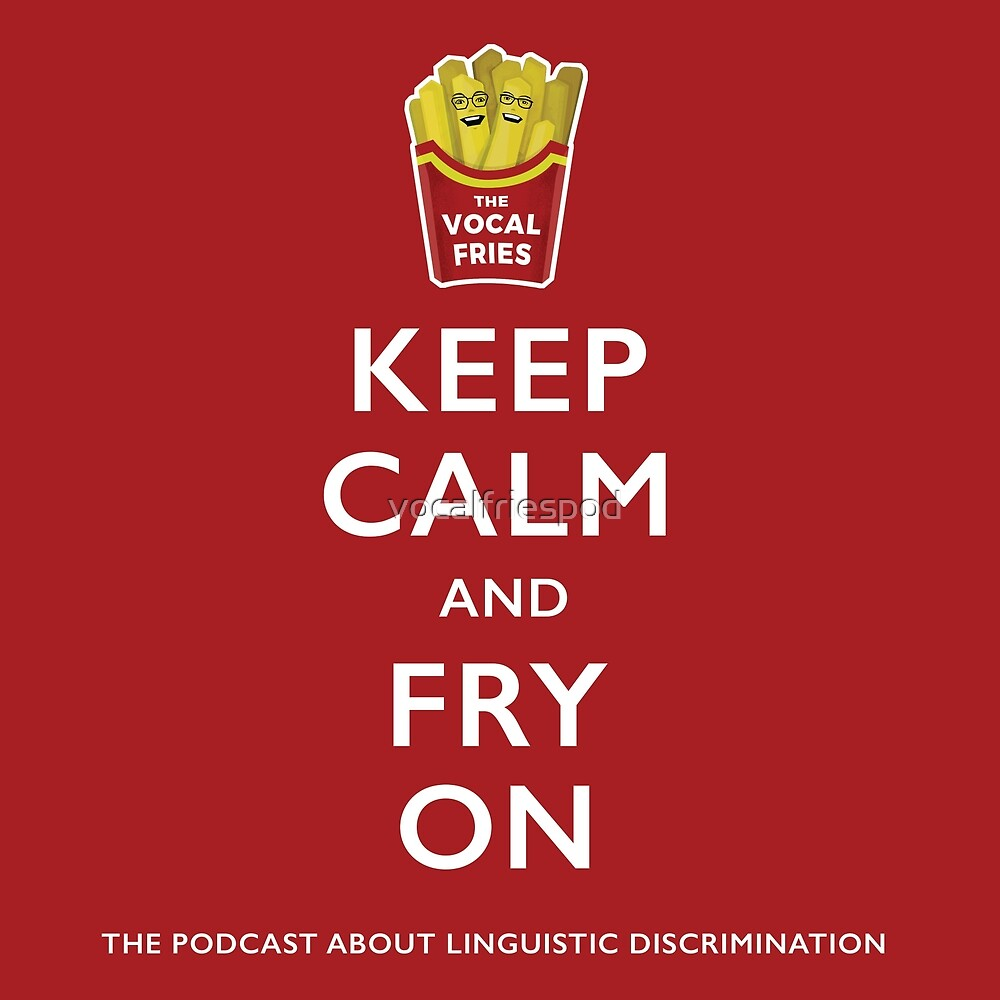 Keep Calm and Fry On Sticker by vocalfriespod