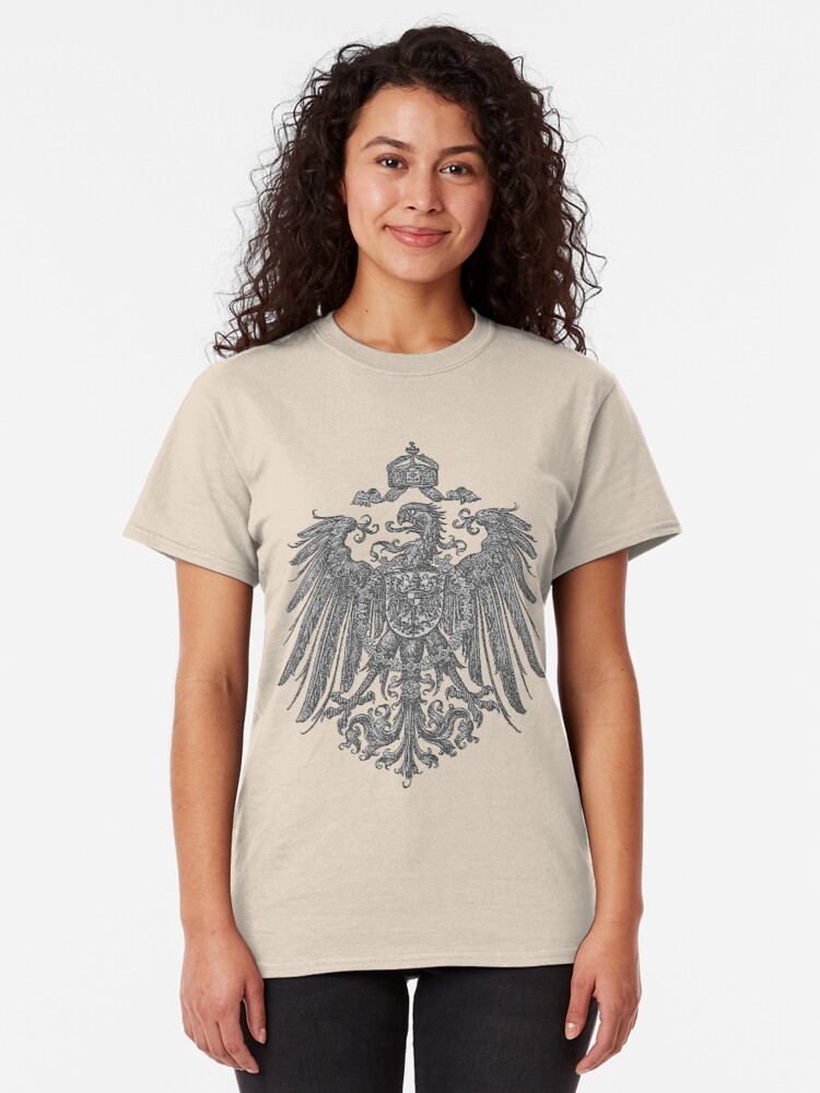 Alternate view of German Heritage, 1888 Feathered Reich Eagle Classic T-Shirt