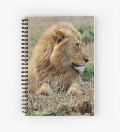 FEELING LONELY - THE LION – Panthera leo Spiral Notebook