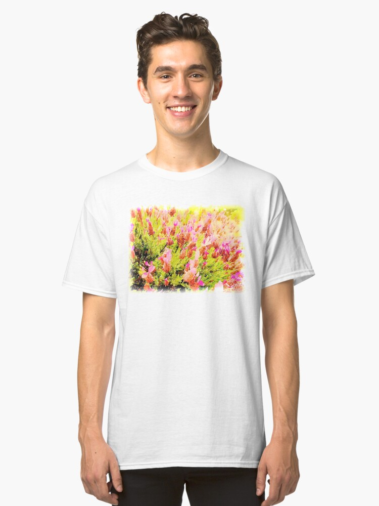 Alternate view of Lavender in Watercolor from A Gardener's Notebook Classic T-Shirt