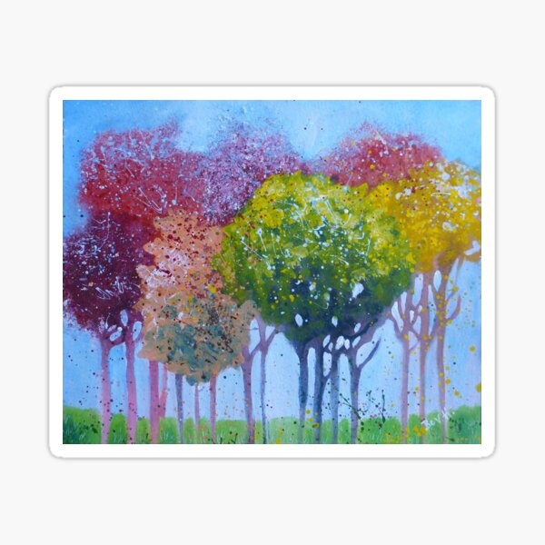 Fairy Floss Trees Sticker