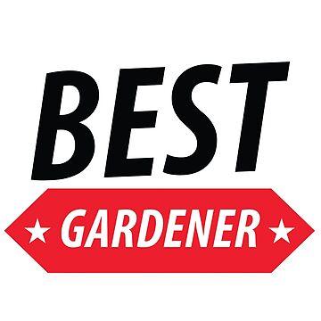 The Best Gardener T-shirt by vantovn