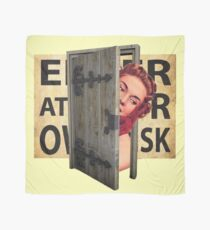 Enter at your own risk Scarf