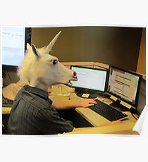 Unicorn in a cubicle #2 - the crushing of the soul Poster