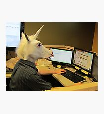 Unicorn in a cubicle #2 - the crushing of the soul Photographic Print