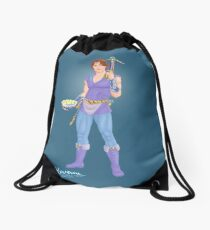 The Archer's Affable Sidekick by Kevenn T. Smith Drawstring Bag