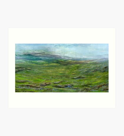 On the moor Art Print
