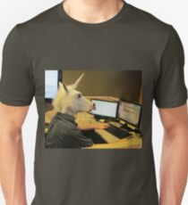 Unicorn in a cubicle #2 - the crushing of the soul Unisex T-Shirt