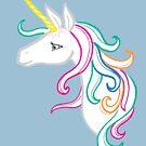Rainbow Lady Unicorn by jasmineberry